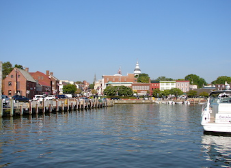 Waterfront in Annapolis, MD With Boats
