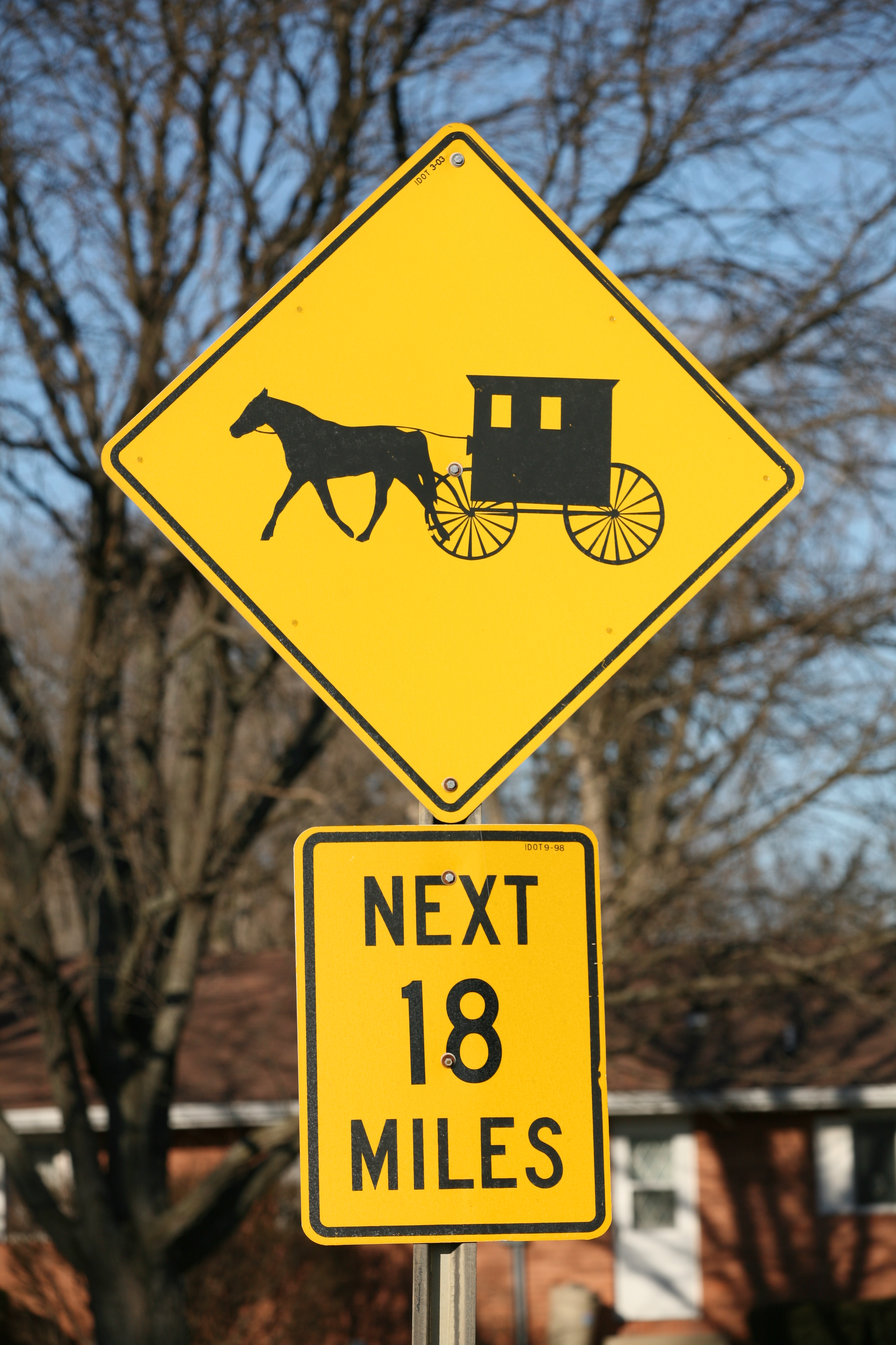 Amish Buggie Road Sign