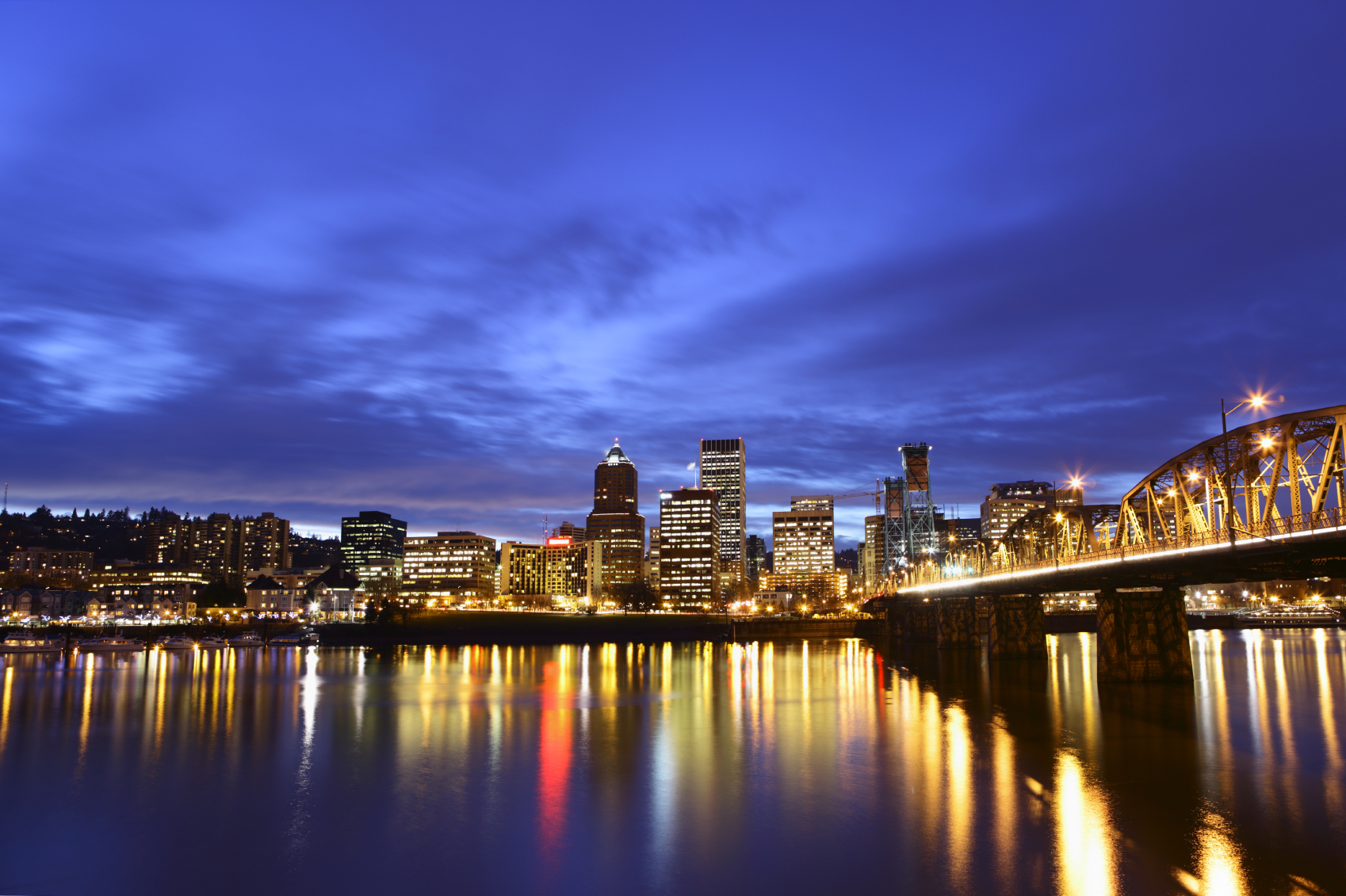 Night View of Downtown Portland, Oregon