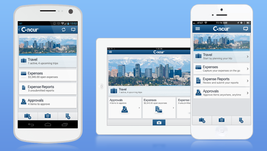 Concur Expense Mobile Apps