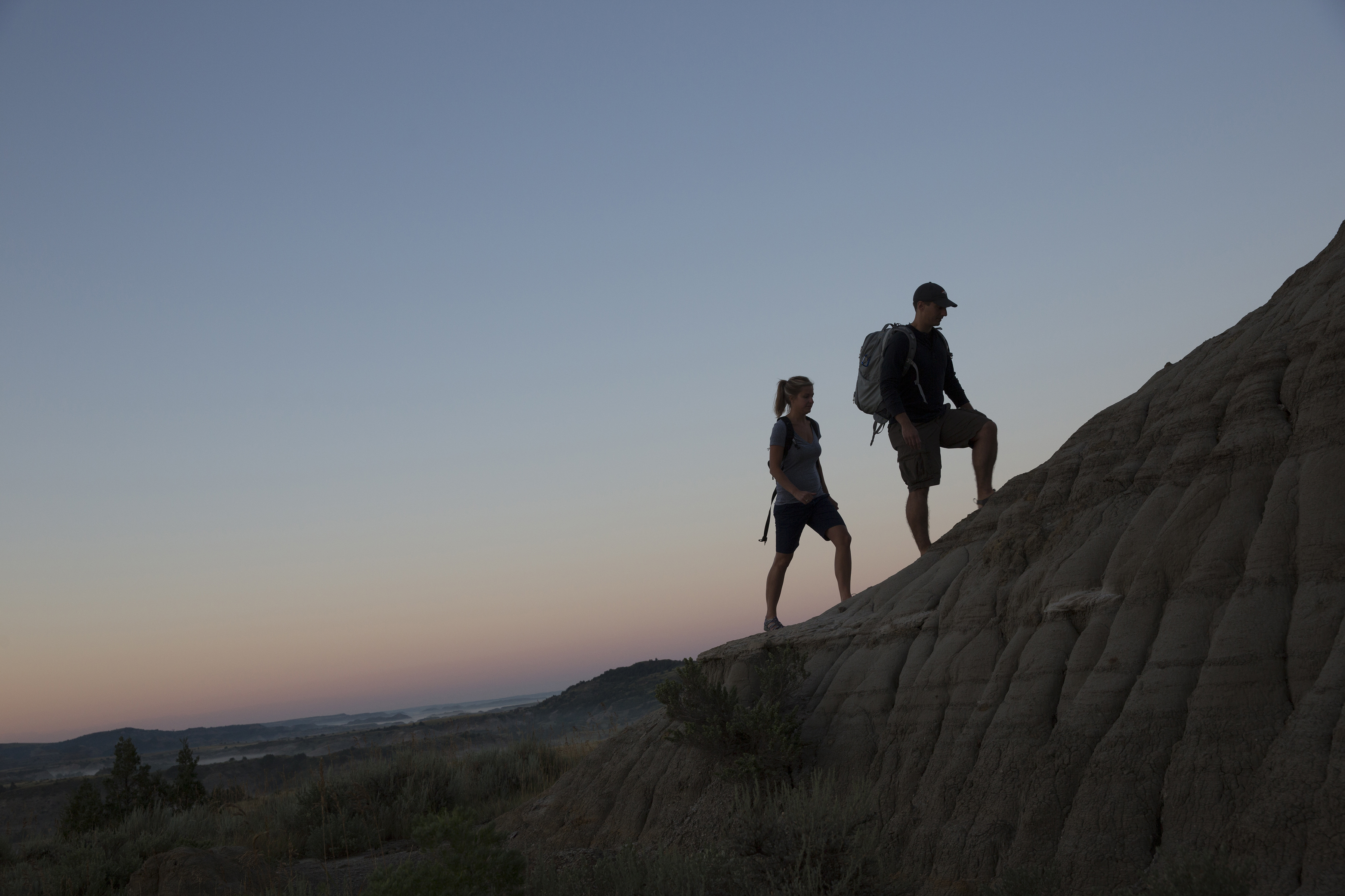 Hikers in Theodore Roosevelt NP