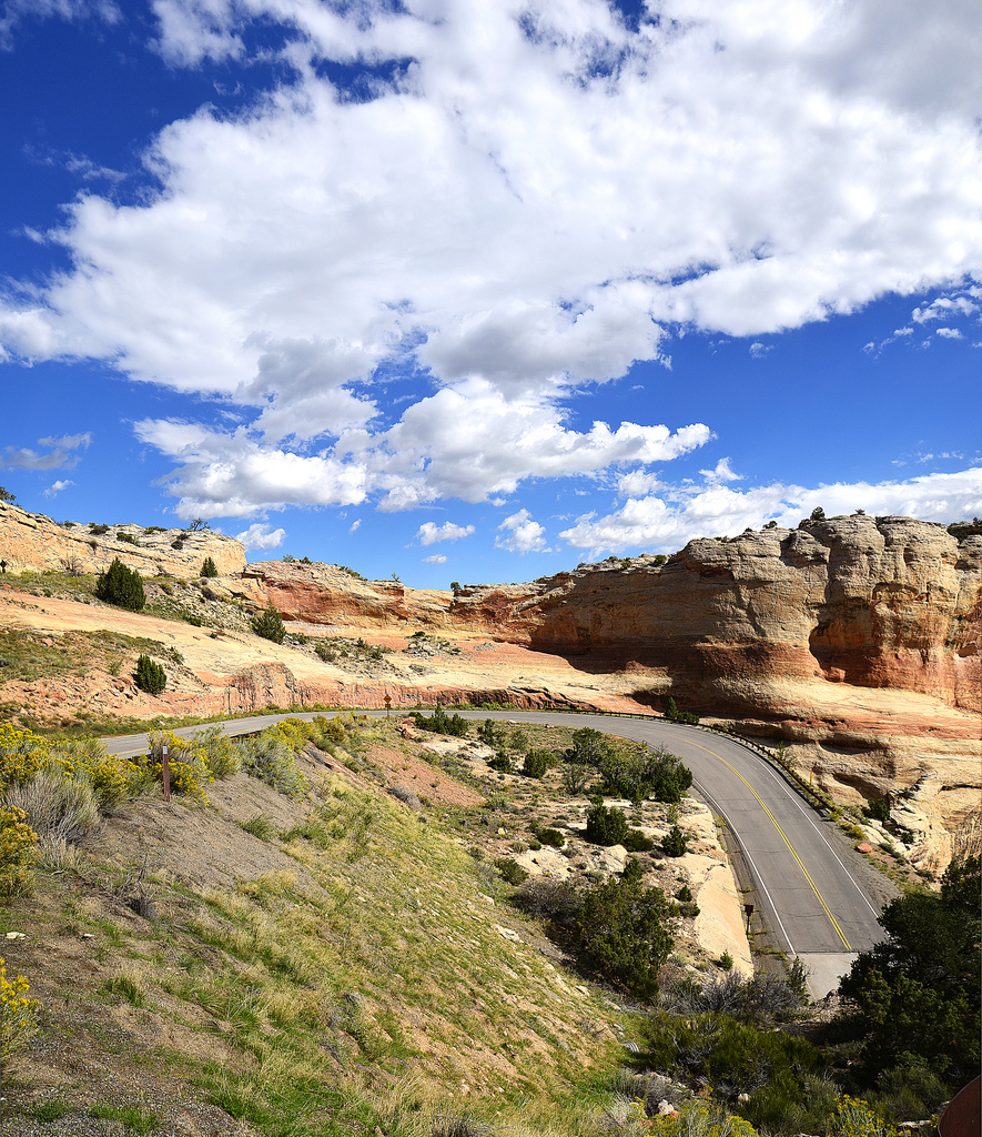 Winding Scenic Drive Through Red Rocks