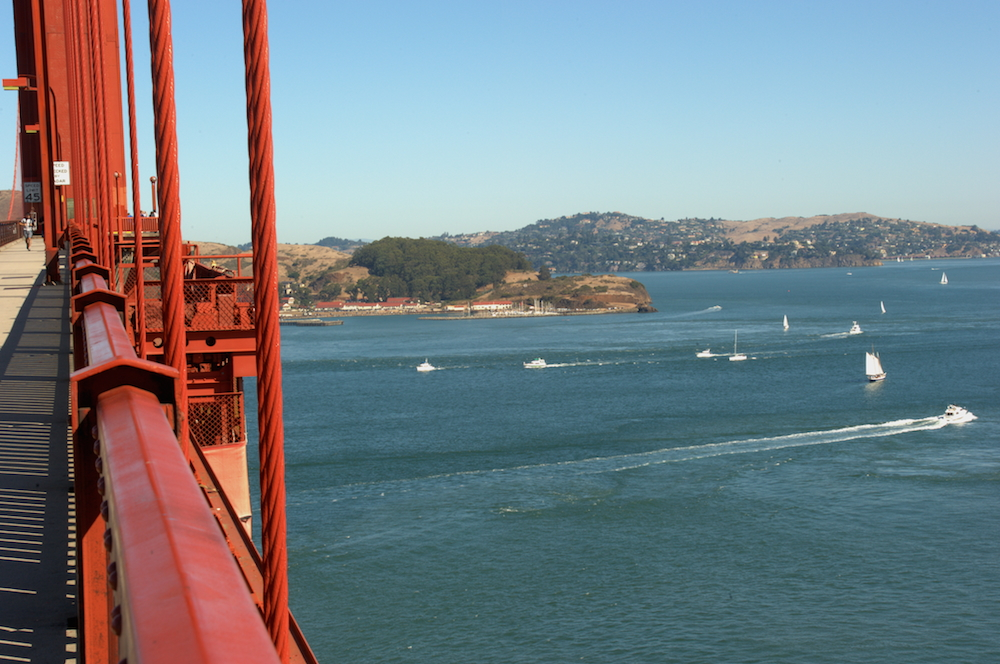 View of Horseshoe Bay from the Golden Gate Bridge