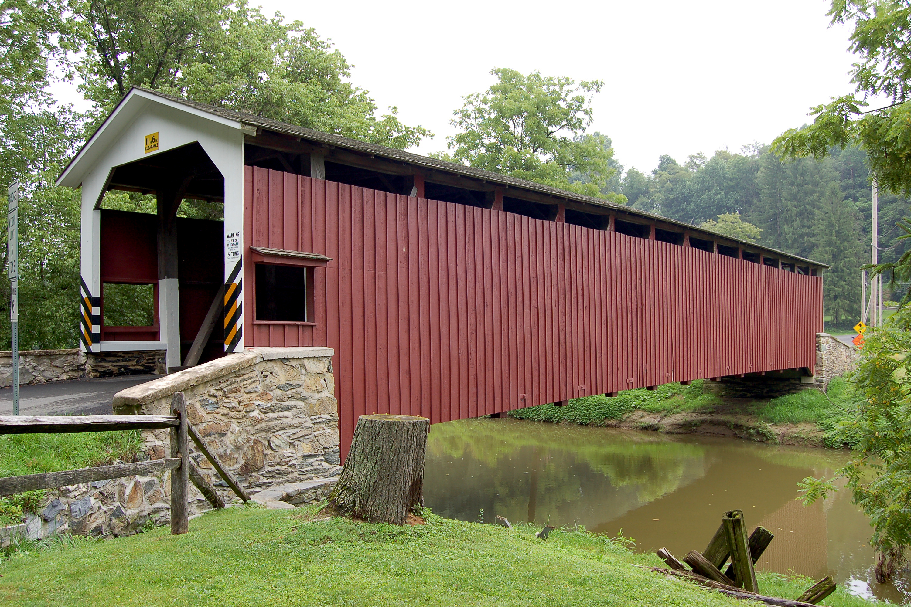 Red Covered Bridge in Lancaster County