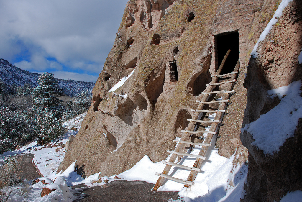 Bandelier Cave Kiva With Ladder