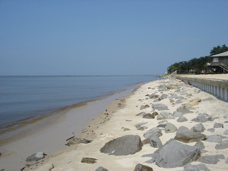 Beach at Ocean Springs in Mississippi