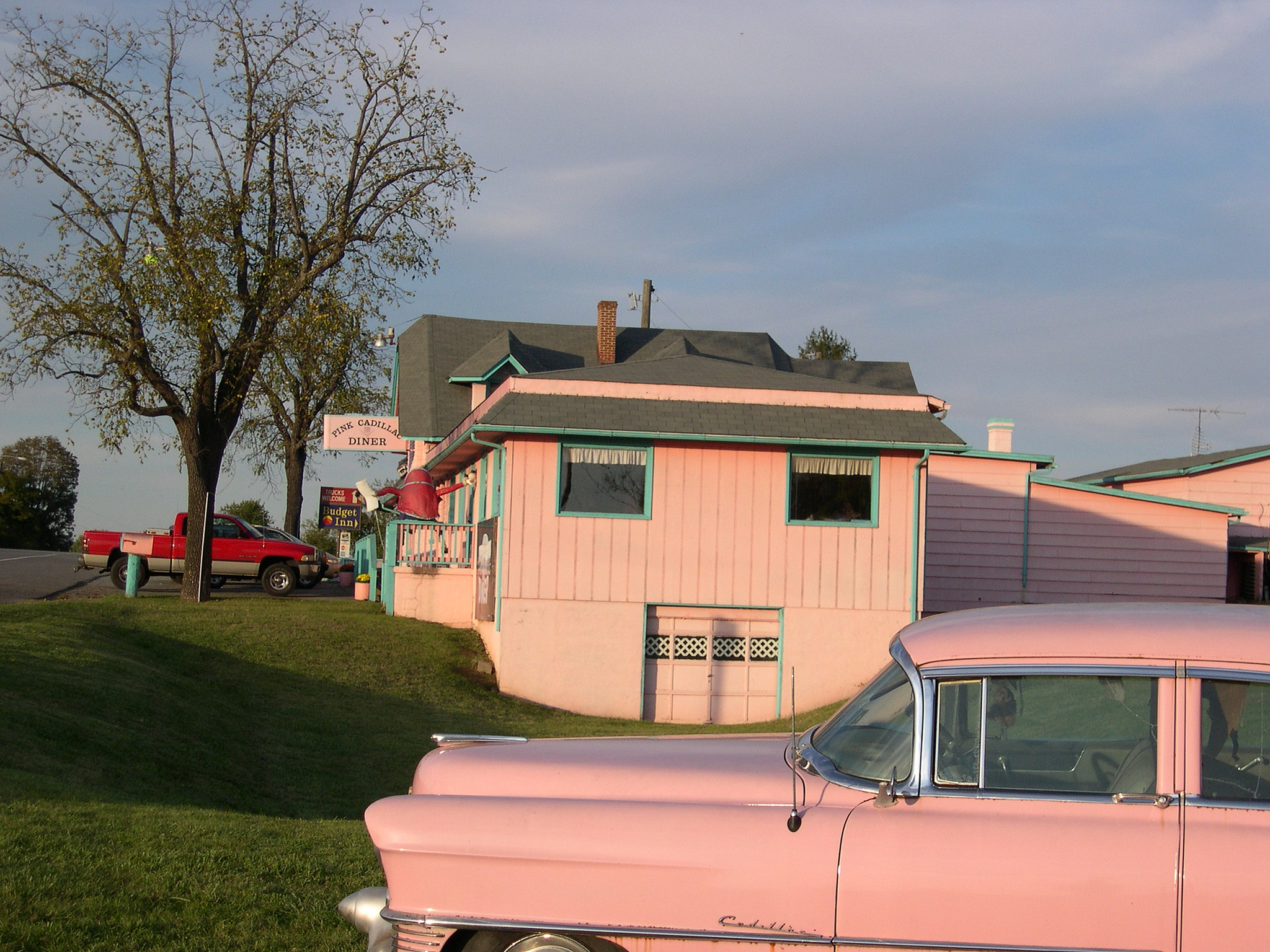 Outside of Pink Cadillac Diner