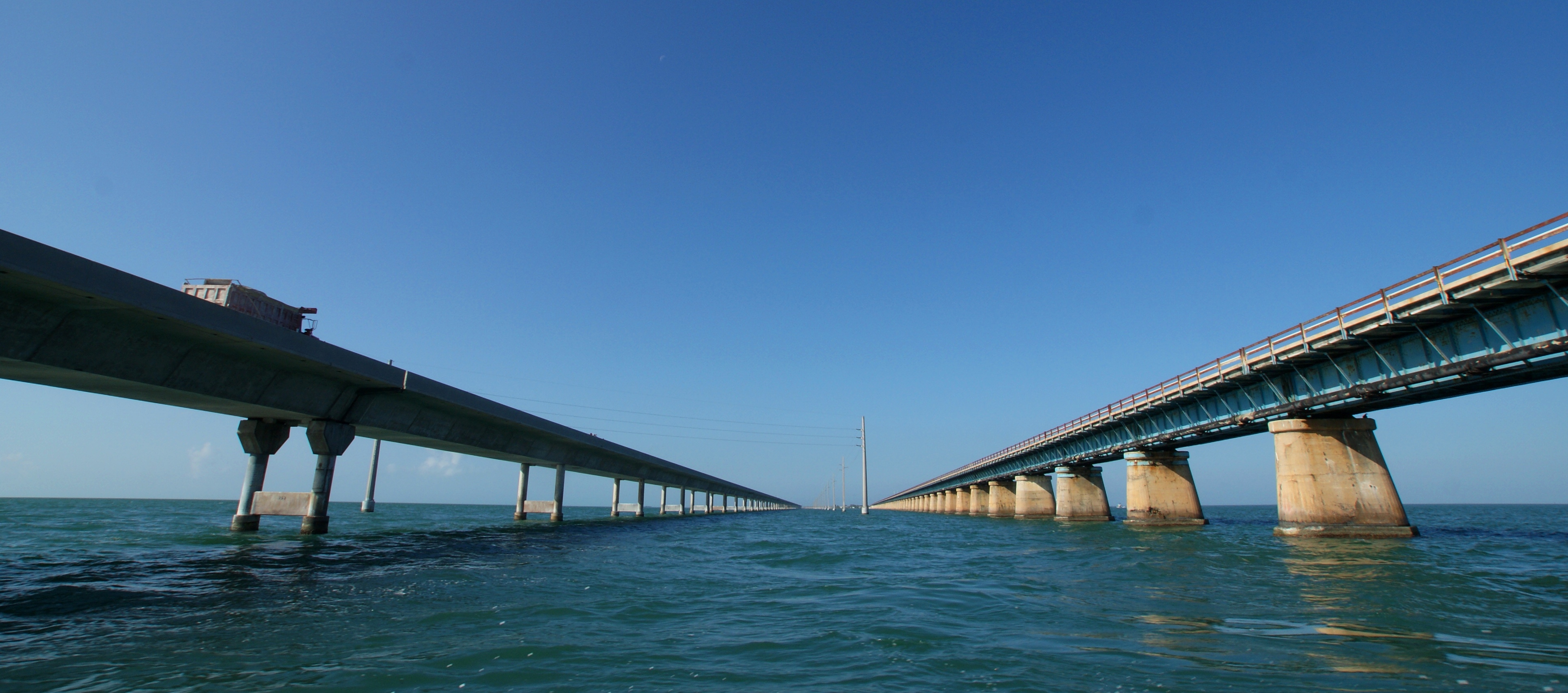Old and New Bridges in the FL Keys