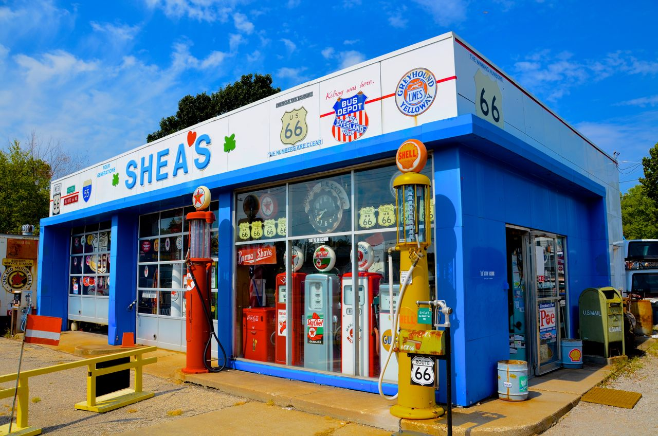 Historic Route 66 Gas Station