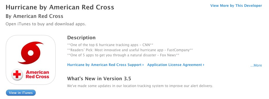 Hurricane by American Red Cross iPhone app