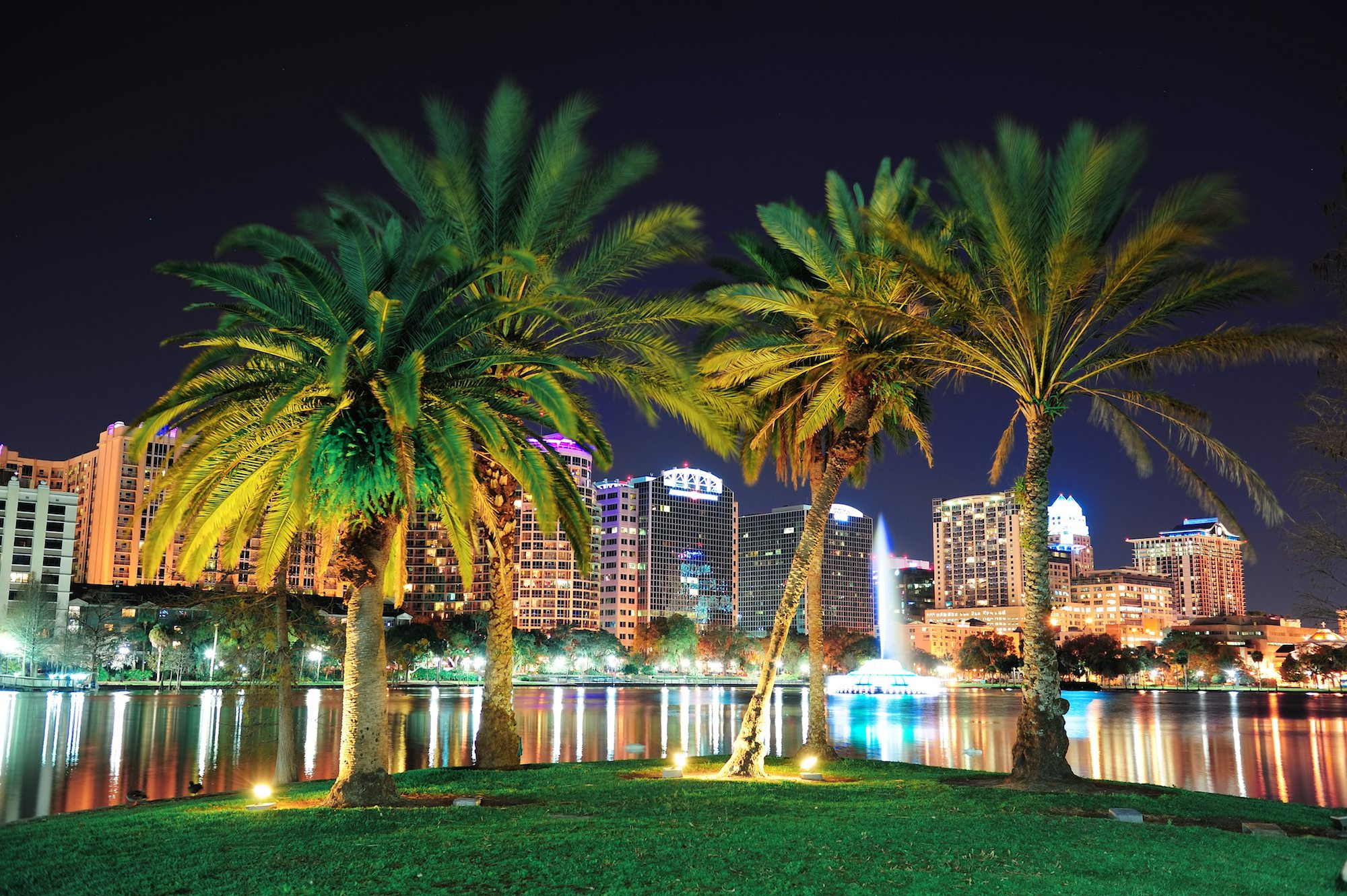 Lake Eola Park in Orlando, Florida