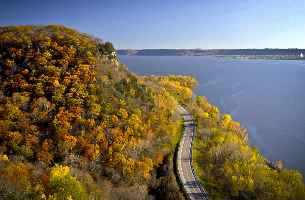 Great River Road in Wisconsin