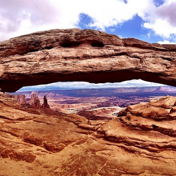View of Mesa Arch in Canyonlands National Park