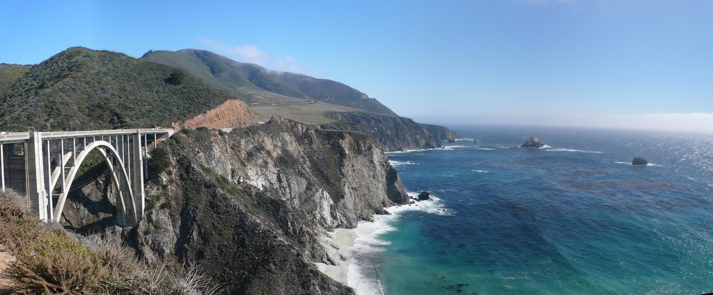 Bixby Bridge Along the Pacfic Coast Highway