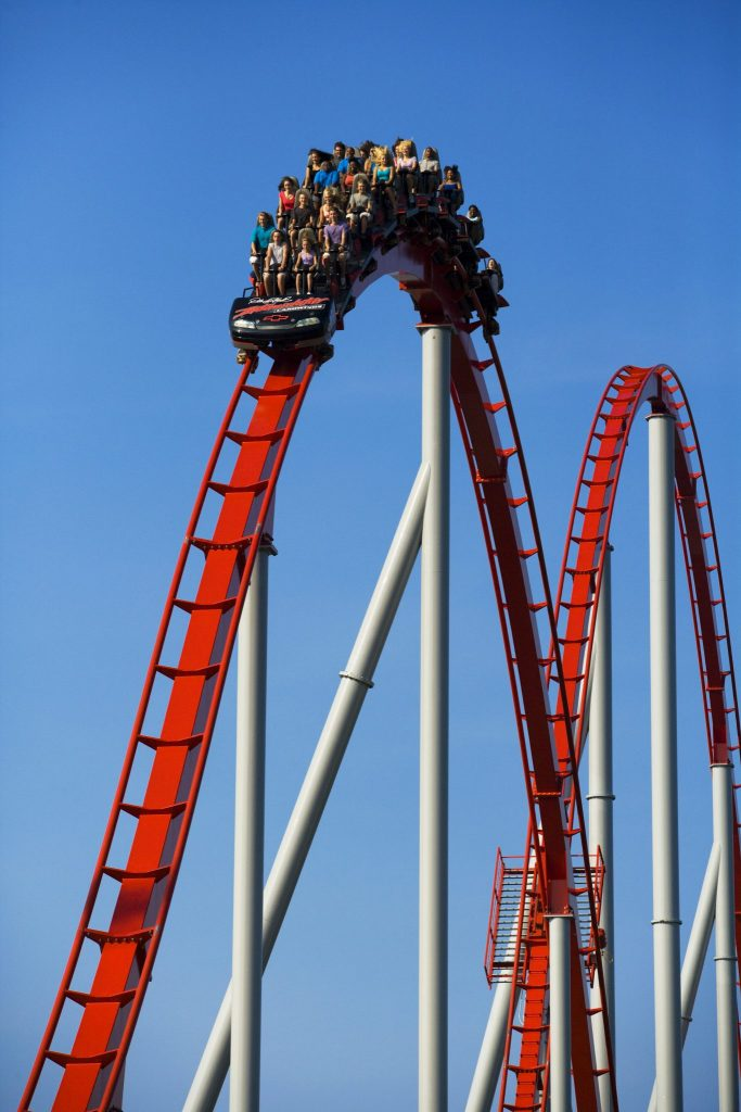 Intimidator roller coaster at carowinds
