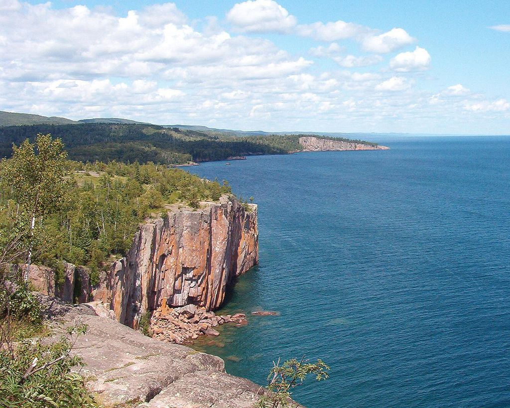 Palisade Head Cliff Over Lake Superior