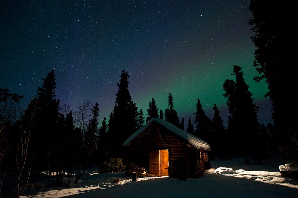 Denali Cabin Northern Lights