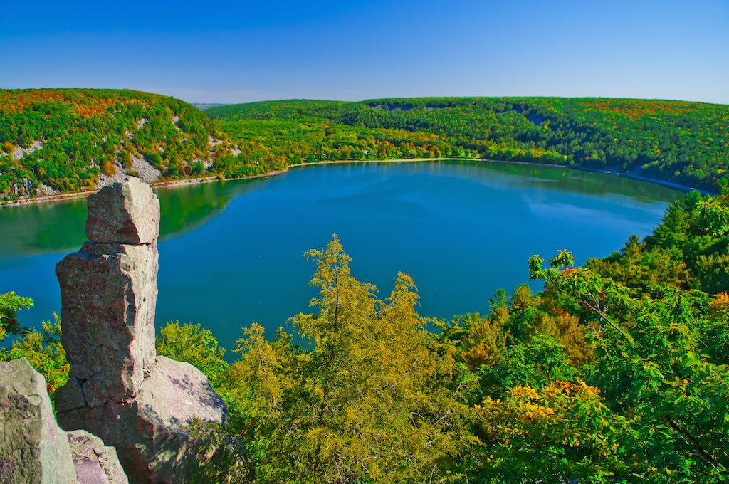 Devil's Lake - View from the Tumbled Rocks Trail