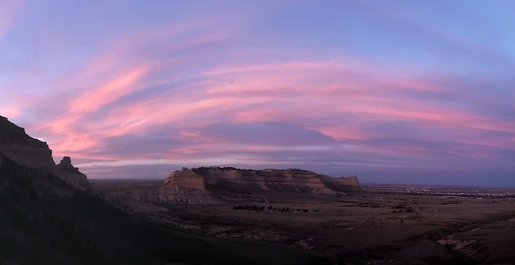 Scotts Bluff NM at Sunset