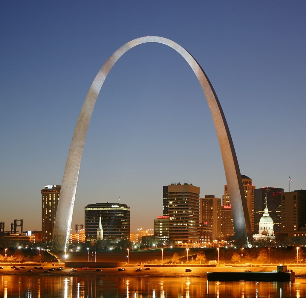 St. Louis Arch at Night