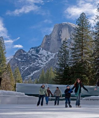 Ice Skating in Front of Half Dome