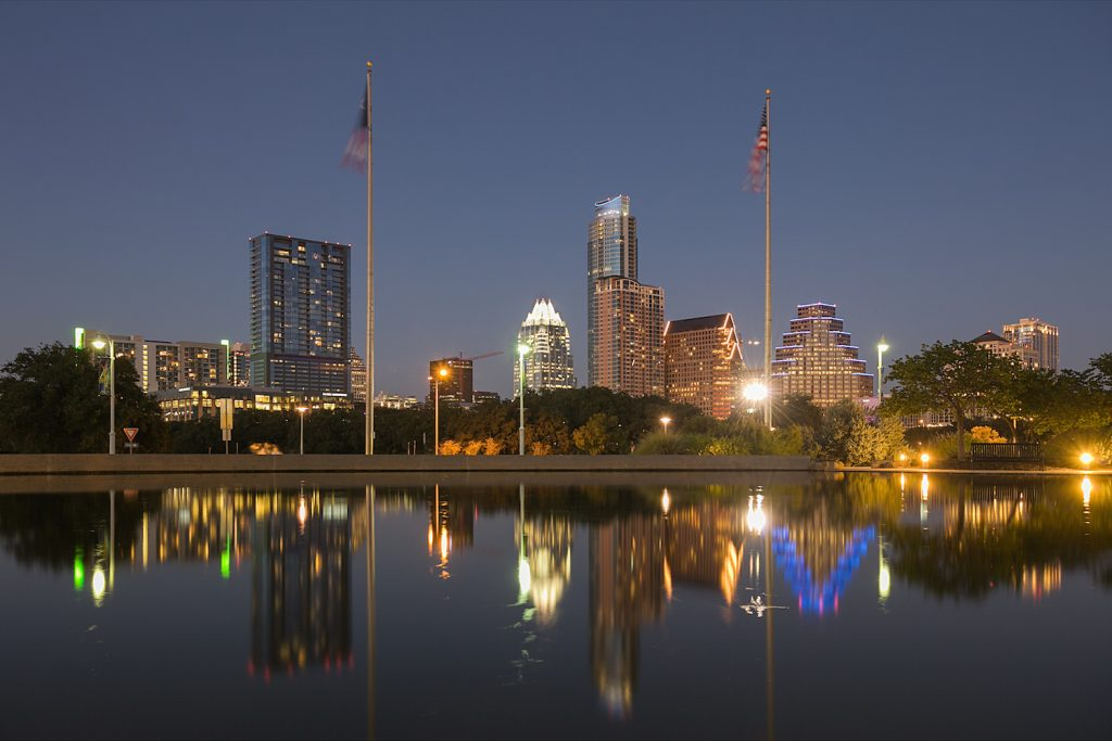 Austin, Texas Skyline at Night