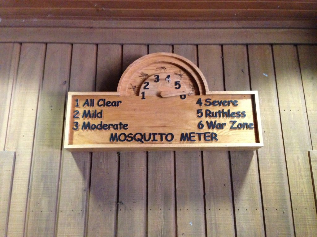 Mosquito Meter at Congaree National Park