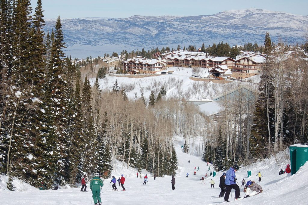 Skiiers in Park City