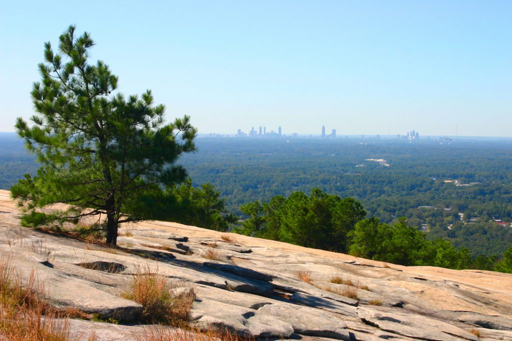 Atlanta Skyline View From Stone Mountain