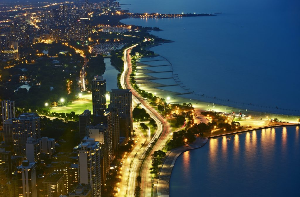 Lakeshore Drive at Night