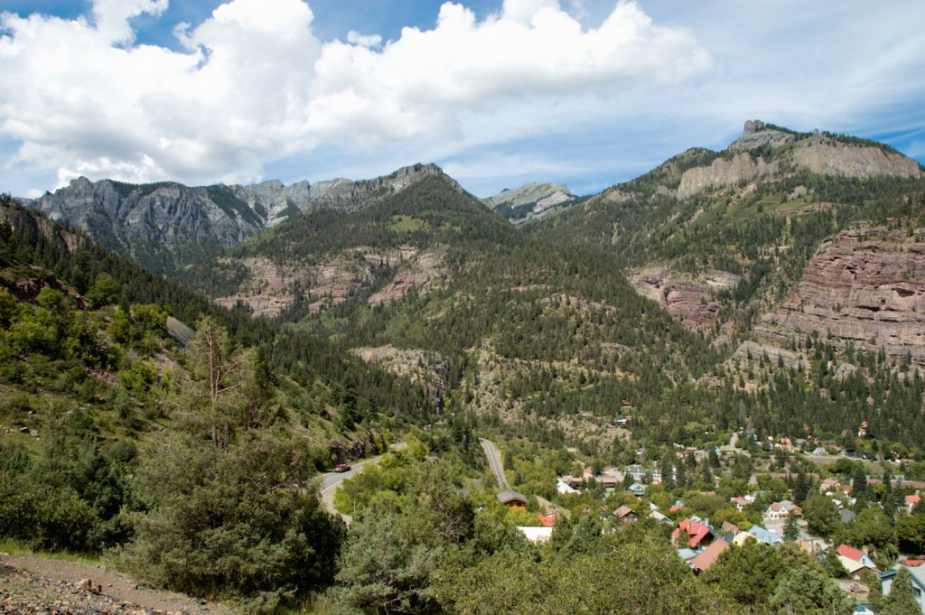 Switchbacks above Ouray, Colorado