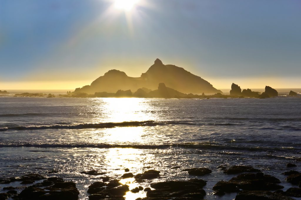 Sun Over Castle Rock, Crescent City, California