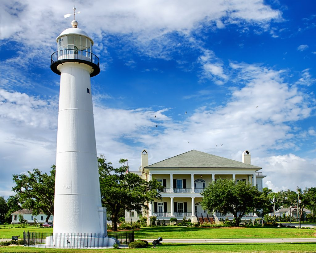 Historic lighthouse in Biloxi, Mississippi