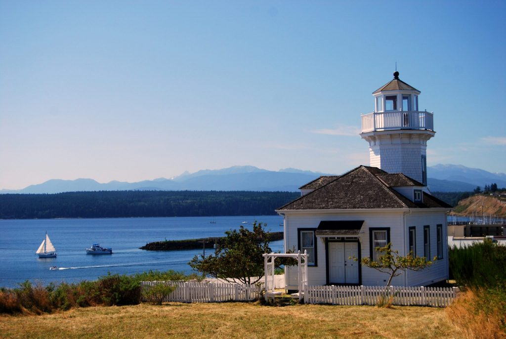 A Lighthouse in Port Townsend Washington, USA.