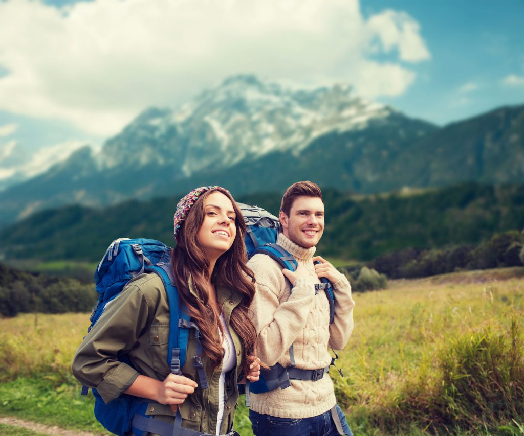 Two Backpackers in the Mountains