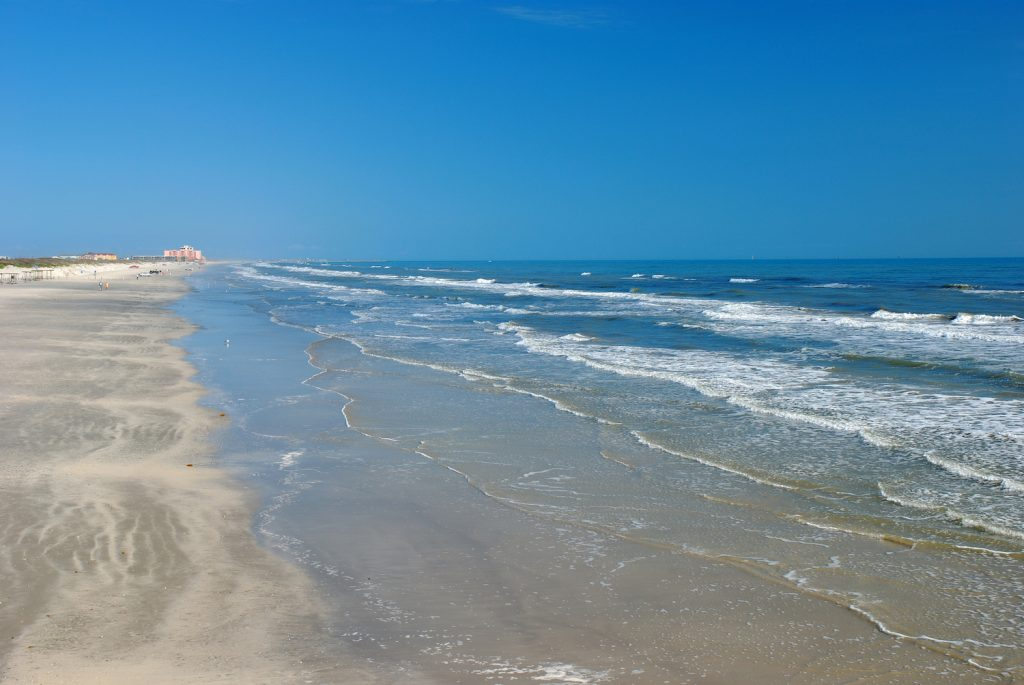 Beach in Padre Island south Texas USA