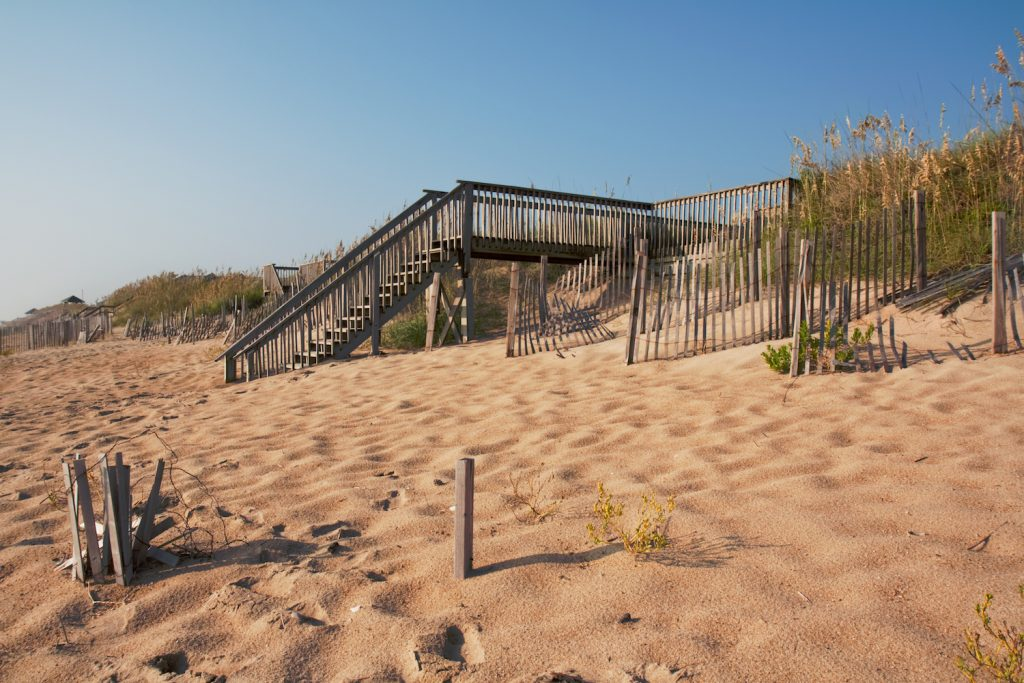 Kitty Hawk Beach Wooden Stairs