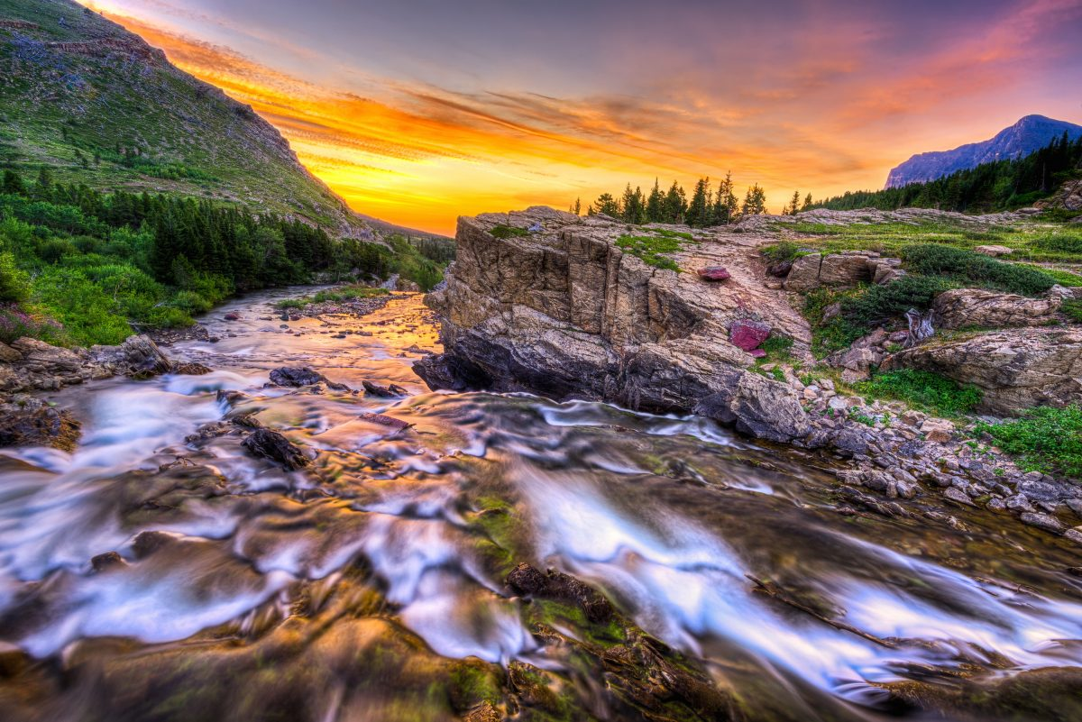 Swiftcurrent Creek At Glacier National Park Montana