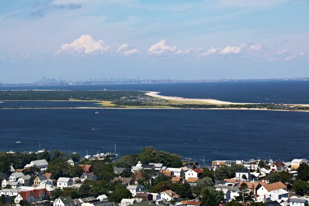 Sandy Hook New Jersey view with New York in background