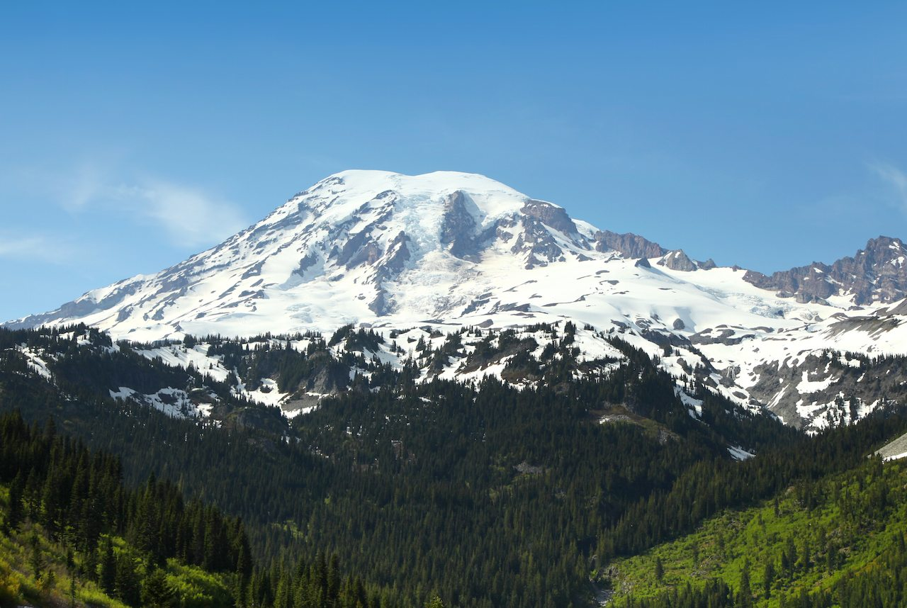Mount Rainier in Spring