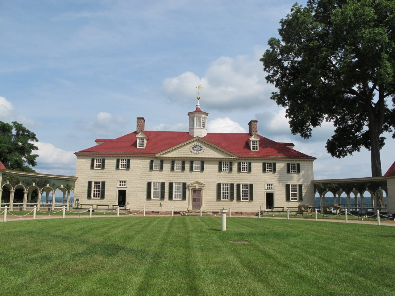 George Washington's estate in Mount Vernon, VA