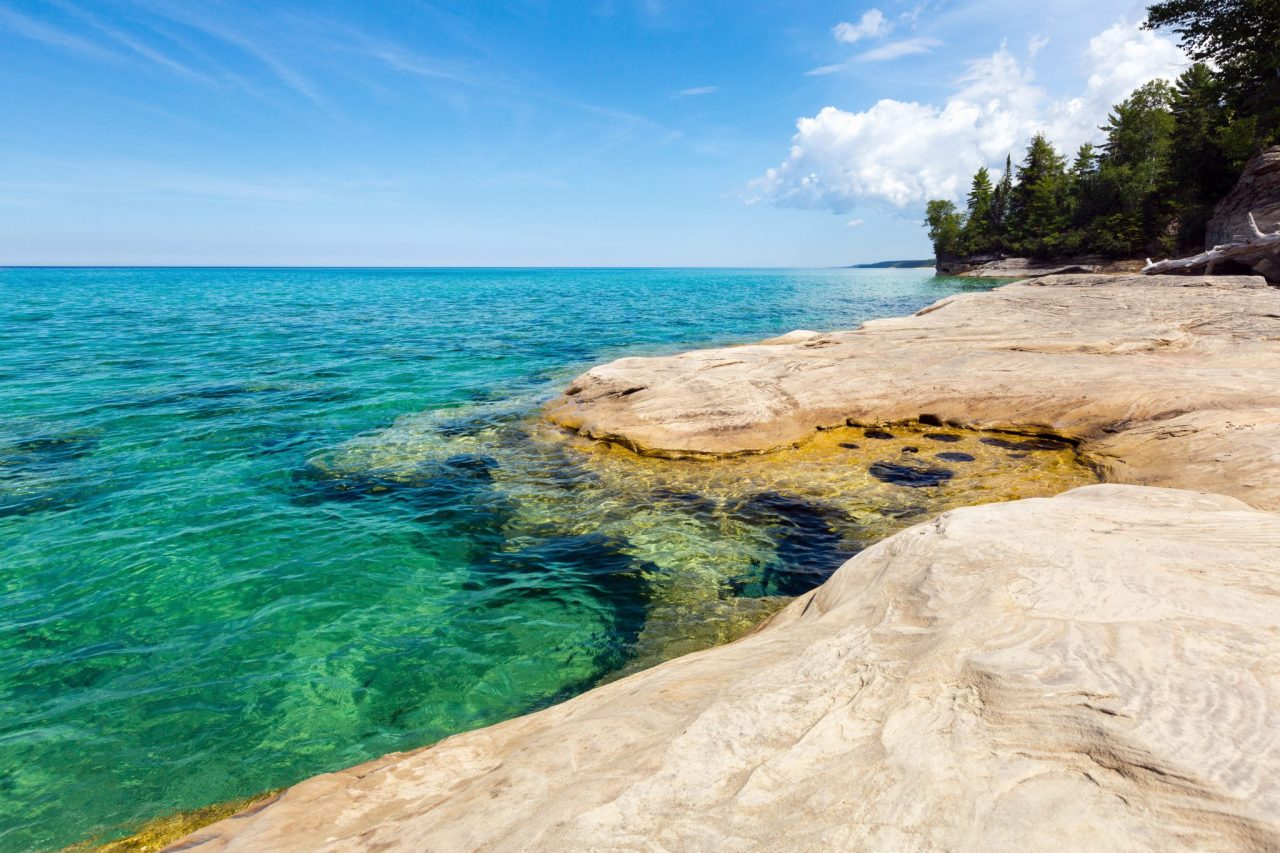 """""""The Coves"""" on Lake Superior at Pictured Rocks National Lakeshore"""