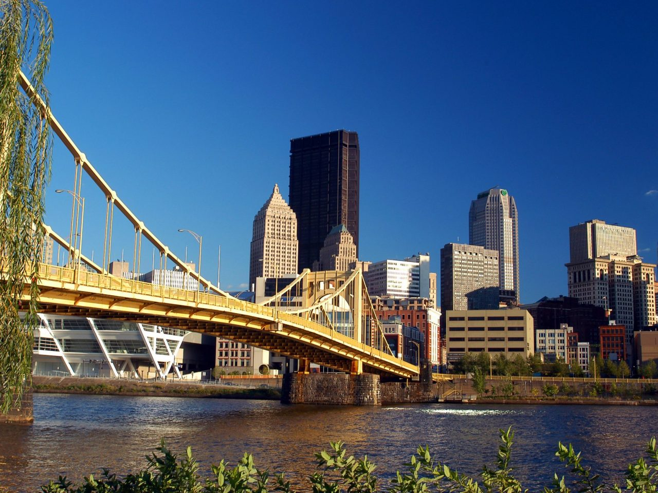 allegheny river with the skyline of downtown pittsburgh