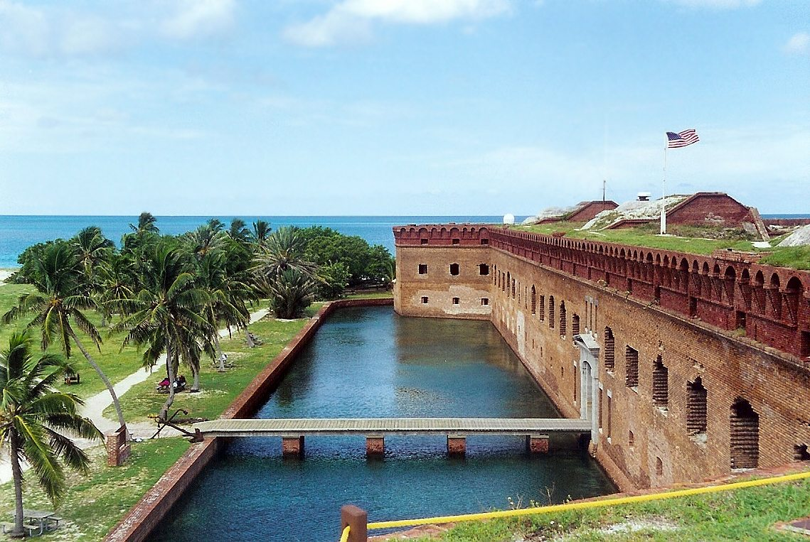 historic Fort Jefferson in Dry Tortugas