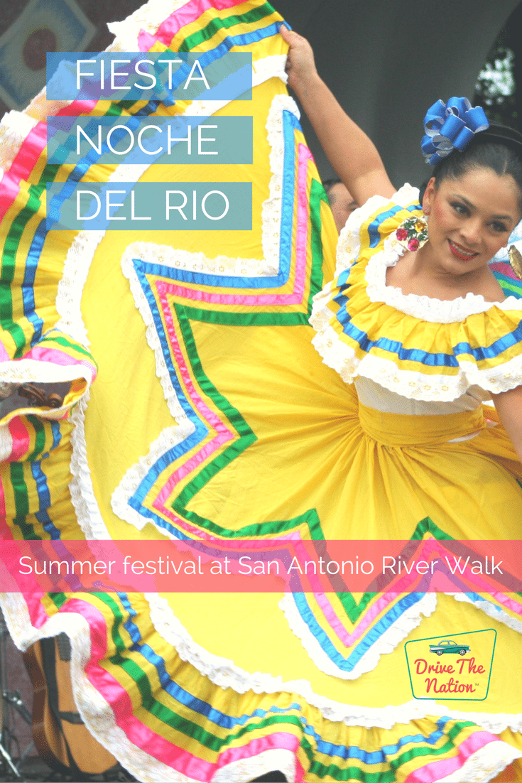 From May to August, San Antonio, Texas lights up with music and dancing, drawing in thousands of visitors each year for its Fiesta Noche del Rio events.