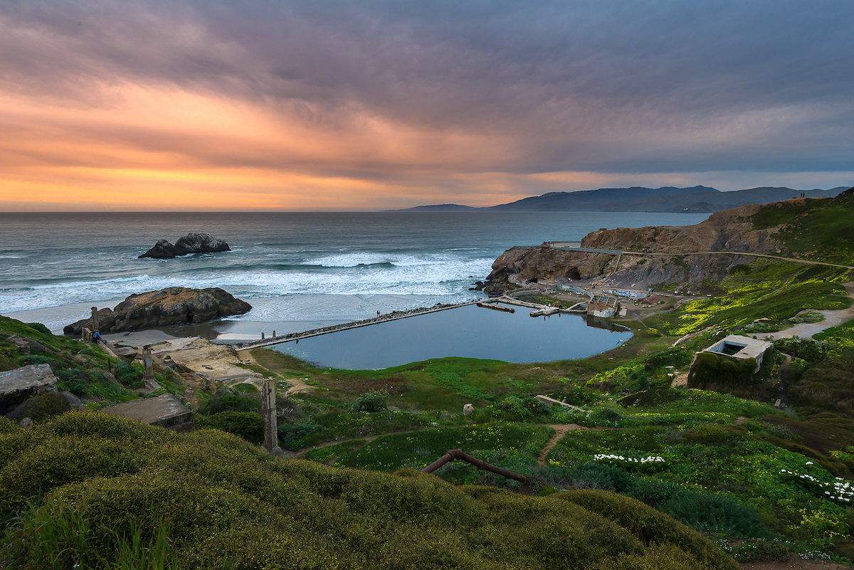Sutro Baths Sunset, San Francisco California