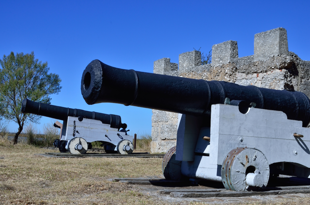 Canons at Fort Frederica National Monument