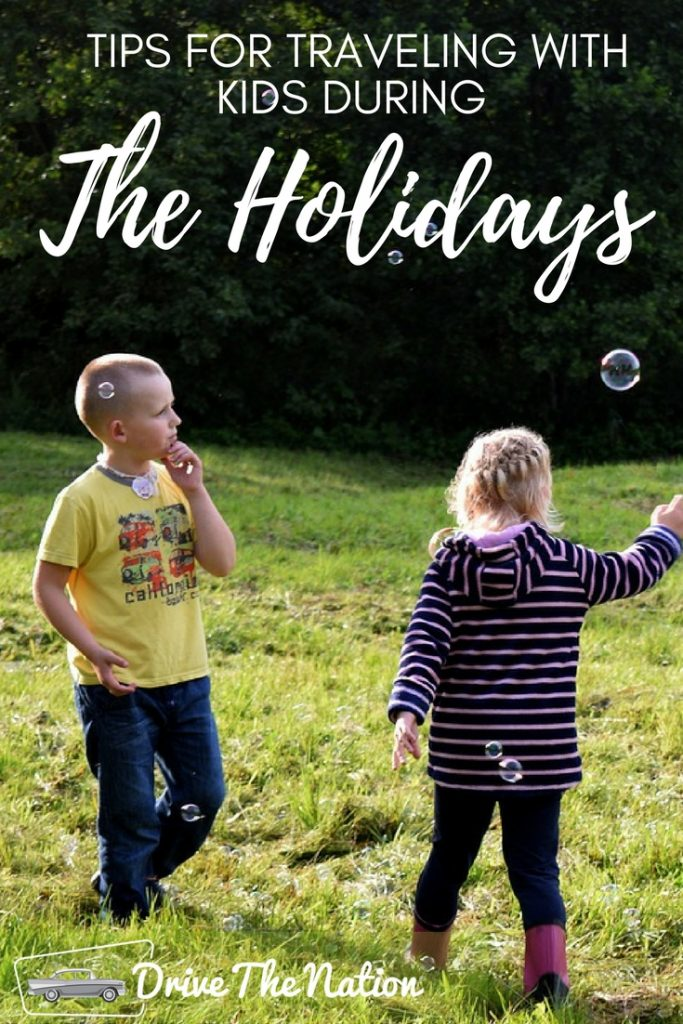 Tips for Traveling with Kids During the Holidays Pin