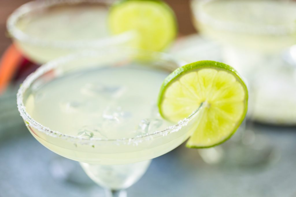 close up of a margarita