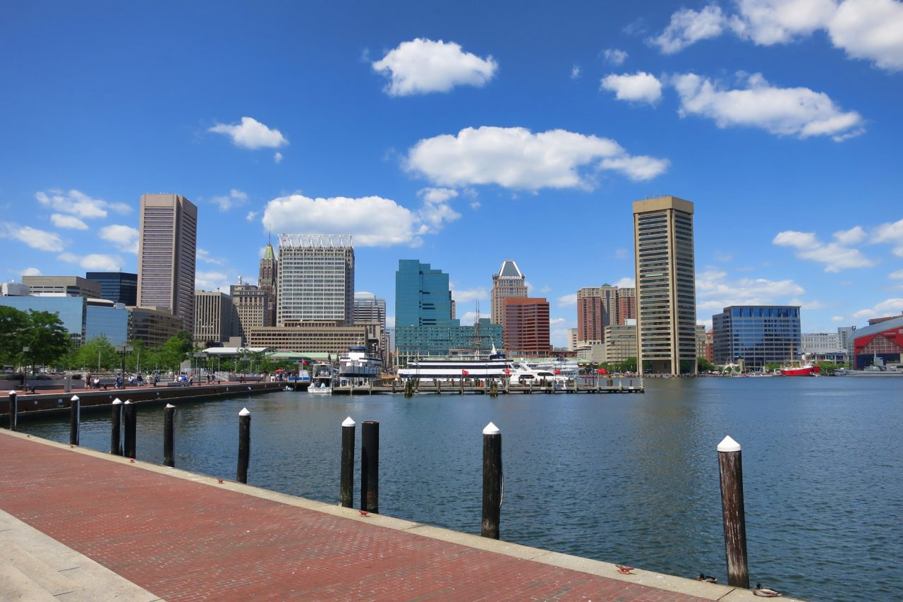 Baltimore, Maryland buildings and water